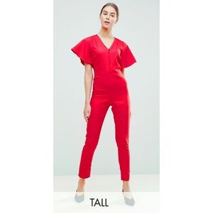 ASOS Tall Red Jumpsuit